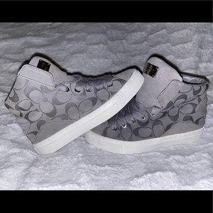Coach 😍 Renee High Top Suede Monogram Sneakers 👟